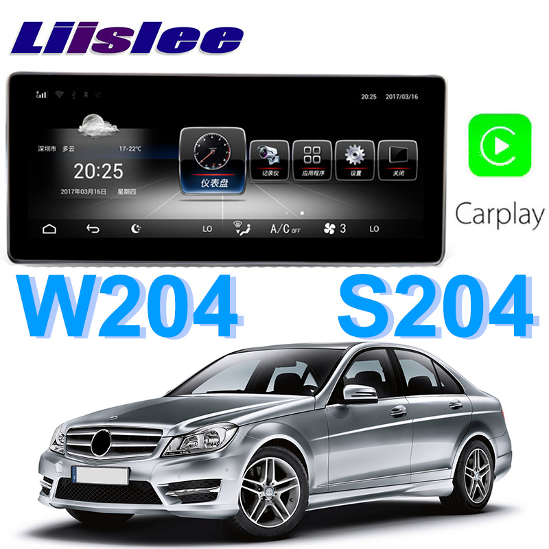 Liislee Car Multimedia Player NAVI For Mercedes Benz MB C Class W204 S204 C200 C220 2011~2014 Car Radio Stereo GPS Navigation цена