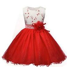db3e4b5d2453a Fleurs Tutu Robe Pour Fille De Mariage Marque Bébé Enfants De Bal robe  Princesse Party Robe