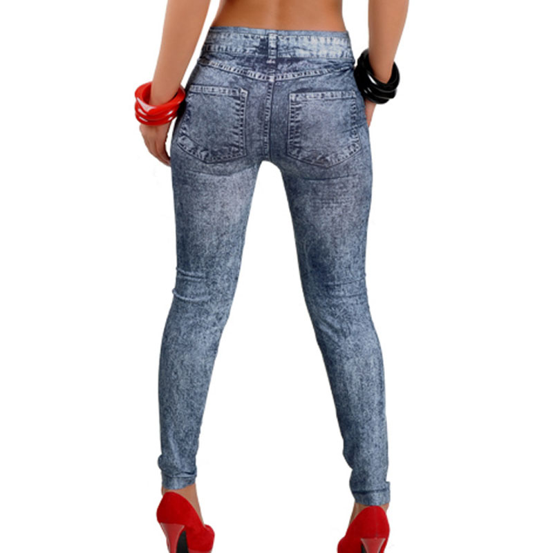 Woman's Jeans Womens Denim Snowflake Skinny Casual High Waist Pencial Jeans Stretch Sexy Pants Soft Tights Calca Jeans Feminina