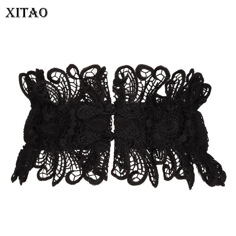 XITAO Lace Hollow Out Cummerbunds Korea Fashion New Floral Wild Joker Vintage 2019 Sexy Style Perspective Cummerbunds GCC1023