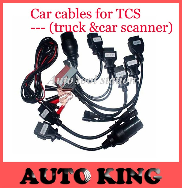 2017 New arrival full set TCS CDP car cables TCS Pro 8 car cables with diagnostic Tool Interface cable free shipping