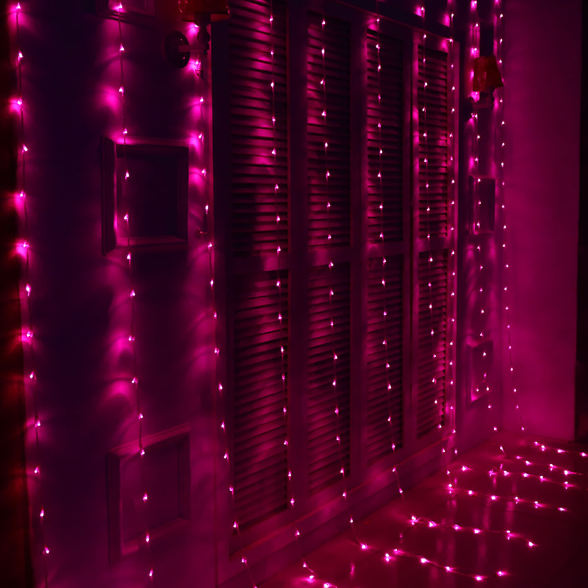 Waterfall Christmas lights outdoor LED curtain waterfall lighting christmas decorations garland holiday lights decoration holiday decoration wedding supplies background layout led lights digital water waterfall lights 3m x 3m