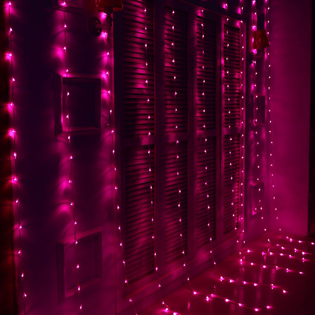 Waterfall Christmas Lights Outdoor Led Curtain Lighting Decorations Garland Holiday Decoration