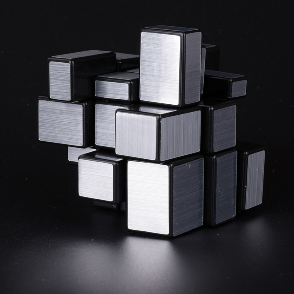 3x3x3 Mirror Cubes Blocks Silver Cast Coated Shiny Magic Cubes Puzzle Brain Teaser IQ Worldwide Educational