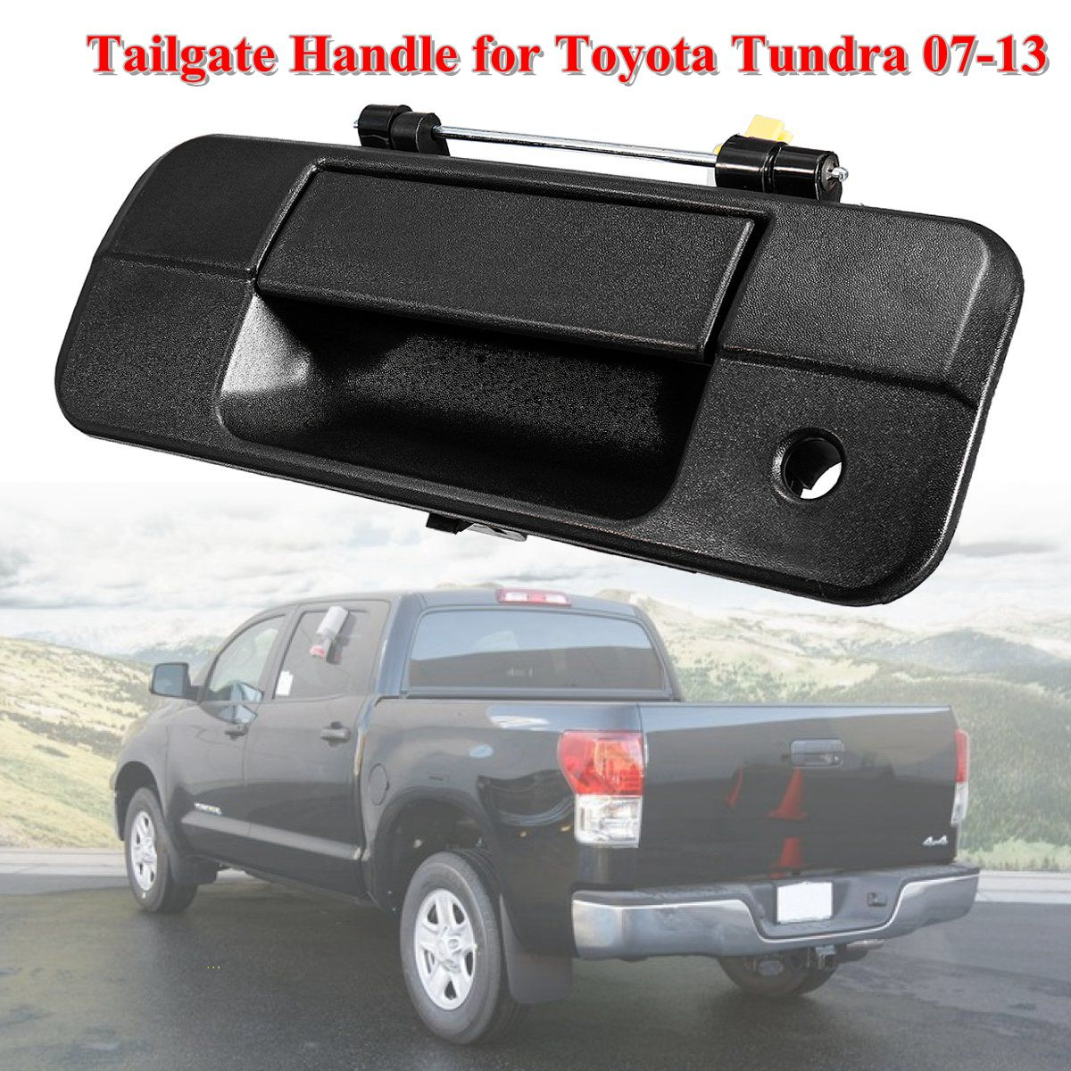 Keyhole Tailgate-Handle 690900C040 Toyota Tundra 2009 2008 2007 For Black Textured Camera-Type