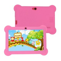 Q88 AU Plug Children Tablet 7 Inch Touch Screen 512MB+8GB Kids Pad Students Learning Tablet With Hi Fi Stereo Speaker
