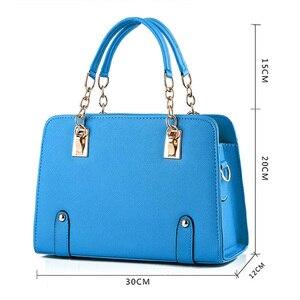 Image 2 - Wobag женские сумки на плечо, женская сумочка из искусственной кожи, сумка для женщин, роскошные сумки, дизайнерская сумка тоут, темно синяя/розовая