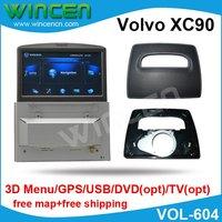 6.5 Car DVD GPS Player for Volvo XC90 with 3D Menu, GPS USB, SD DVD, TV Motorised panel to match Volvo XC90 car