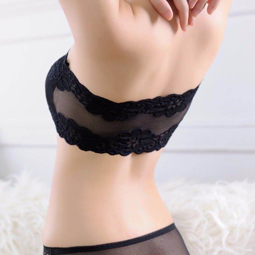 Sujetadores de encaje de poliéster sexy para mujer previenen el - Ropa interior - foto 3