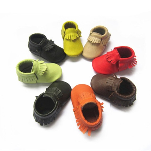 a946f57f2cc9 Tassels 30 Colors Genuine Leather Baby Shoes Baby Moccasins Newborn Shoes  Soft Infant Crib Shoes Sneakers First Walker
