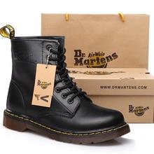 Men Boots Martens Genuine Leather Shoes Men Winter Boots Ankle Martin Motorcycle Botas Hombre Retro Autumn Winter Shoes Mens