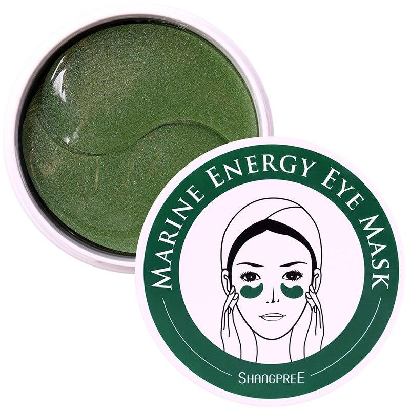 Coolsa морской энергии маска для глаз 60 шт. ухода за кожей вокруг глаз с украшением в виде кристаллов гель Коллаген увлажняющая маска против ст...