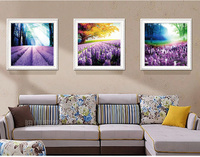 Needlework 5d Diamond Embroidery Landscape Lavender Mosaic Pictures Patterns Tree Beads Icons Puzzle Picture Rhinestone Picture