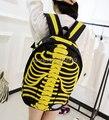 2017 НОВЫЙ горячей продажи мода Индивидуальный характер скелет сумки рюкзак школьный мужчины и женщины сумка на плечо