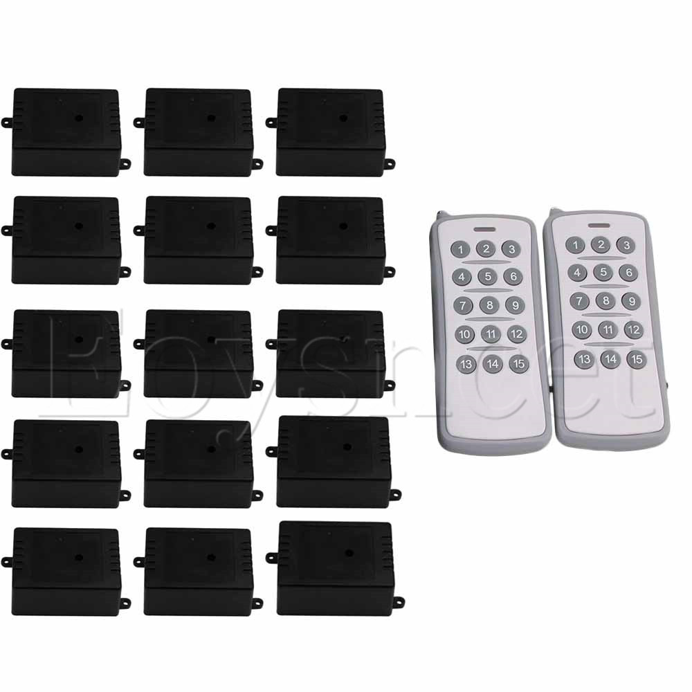 150M Door 15 Receivers Grey Key Remote Control Switch 12V 1CH 433MH