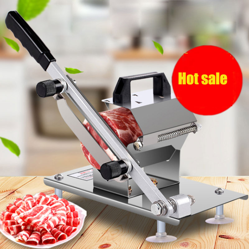 Meat Slicing Machine Stainless Steel Household Manual Thickness Adjustable Commercial Meat And Vegetables Slicer