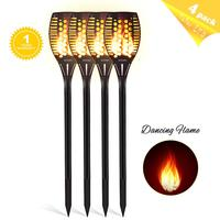 Solar Tiki Torch Lights LED Garden Waterproof Outdoor Courtyard Lamp Dancing Flame Flickering 96 LEDs Decorative Lights IP65