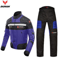 DUHAN Motorcycle Racing Suits Protective Gear Windproof Warm Motorbike Jackets + Motorcycle Pants Moto Protective equipment