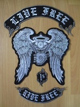 wings Engine large Embroidery Patches for Jacket Motorcycle Biker 49cm*35cm