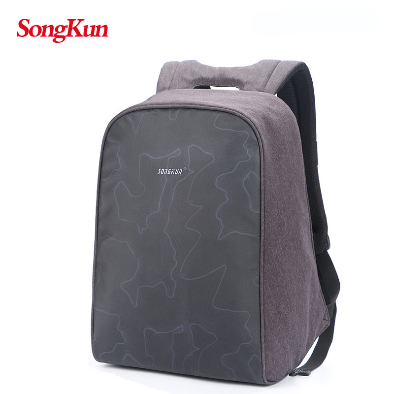 Anti theft backpack waterproof oxford 14 inch 15 inch laptop backpack fashion travel bag high quality gray blue men backpack