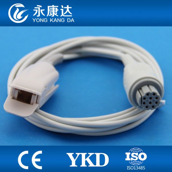 3pcs/pack Adult Finger Clip Direct Reusable Spo2 Probe Works With DATEX AS/3 CS/3 CH/S TPU Material 10pin 3m