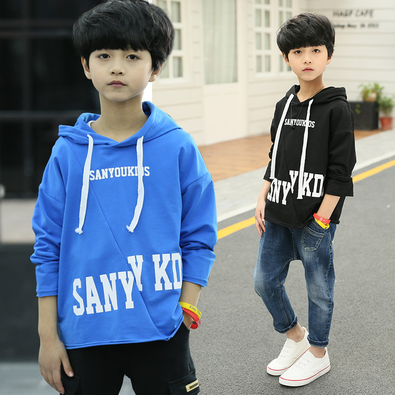 Children Clothing Autumn Spring Kids Long Sleeve T-shirt Boys Pullovers Teenager Boys Hooded Sweatshirt Boys Hoodies 4-14 Years