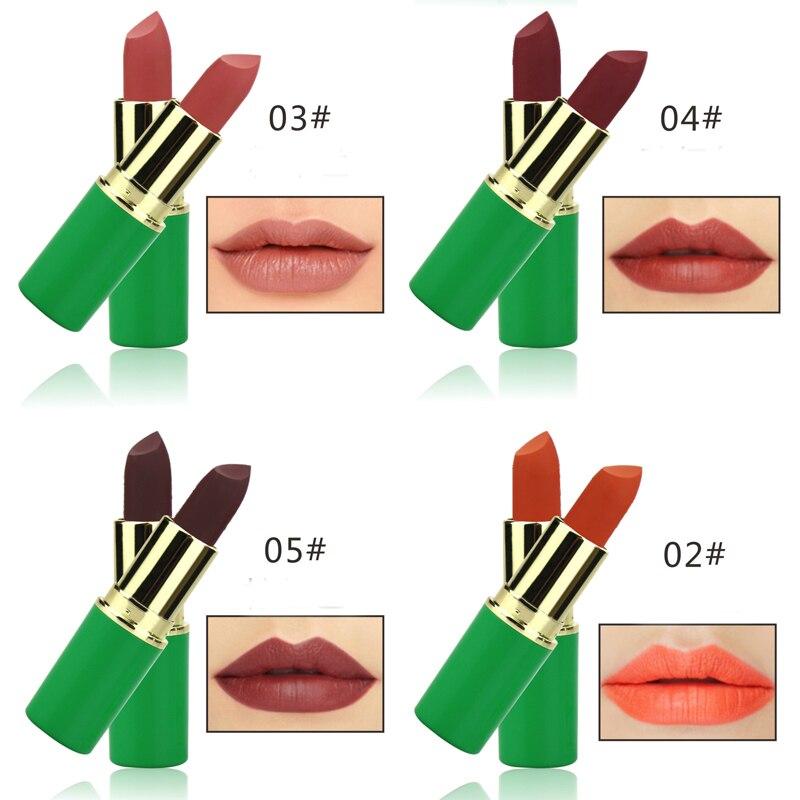 Aus Dem Ausland Importiert Neue Make-up Natürliche Gemüse Feuchtigkeitscreme Lippenstift Make-up Lippen Pigment Nude Matte Braun Rot Lip Stick Kosmetik P8091-6 Schönheit & Gesundheit