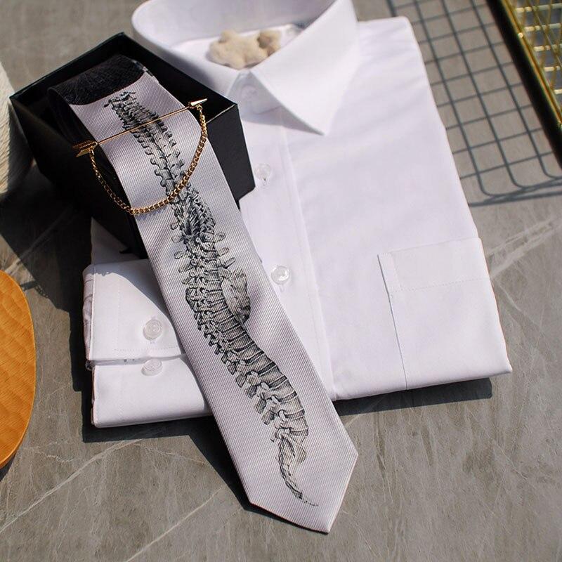New Free Shipping Men's Man Male Beautiful Skeleton Series Tie Wedding Hosted Western European Party Necktie Gift