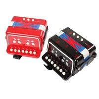 Mini Brinquedo Acordeão 7 Teclas + 3 Teclas Teclado Instrumento Musical para Crianças Caçoa o Presente