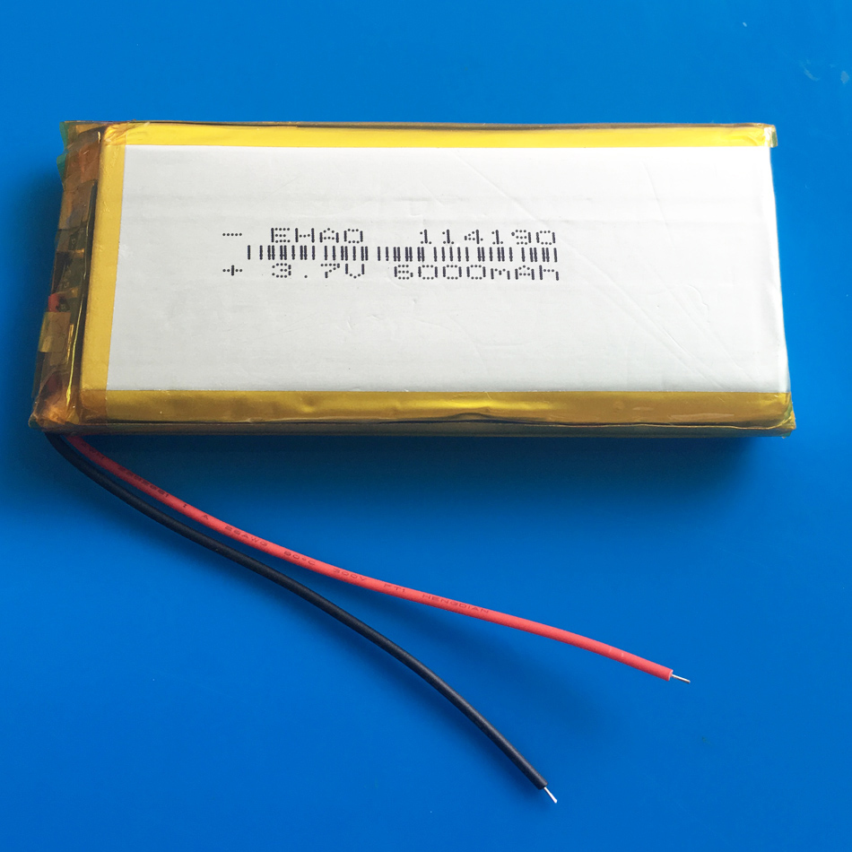 <font><b>3.7V</b></font> <font><b>6000mAh</b></font> 114190 Polymer Lithium <font><b>LiPo</b></font> Rechargeable <font><b>Battery</b></font> For GPS PSP DVD PAD E-book tablet pc laptop power bank video game image