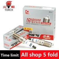 4pcs Lot China Original TORCH Double Iridium Spark Plugs QH6II For C MAX FIESTA VI FOCUS