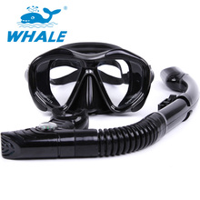 Whale Professional Brand Scuba Diving Mask Diving Mask Snorkel Set Swim Equipment Adults Diving Tube Swimming Scuba Glasses