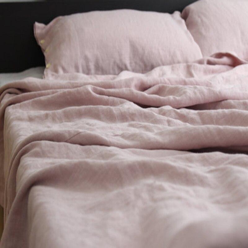 ⊰Rosa lavado francés cama Fundas nórdicas reina Lino Ropa cama ...
