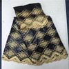 African Lace Fabric Guinea Bazin Riche Fabric Set With 2yard French Net Lace For Blouse 2017