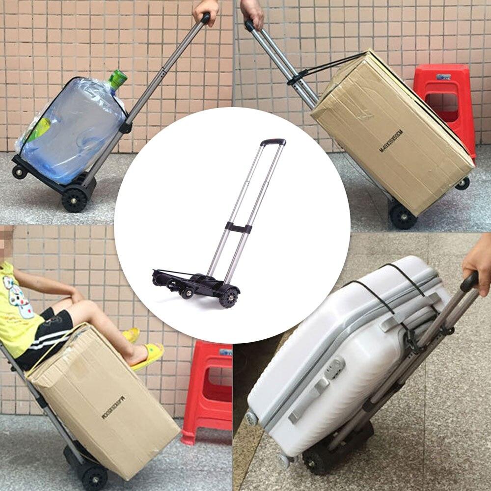 Chariot à bagages pliant de voiture d'alliage d'aluminium chariot de voyage portatif chariot à bagages de ménage - 6