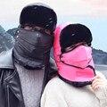 2016 Новый Балаклава Зимние Шапочки Для Женщин Мужчин Мода Маска Защиты Шеи Ветрозащитный Толстые Теплые Снег Зимний Hat Cap
