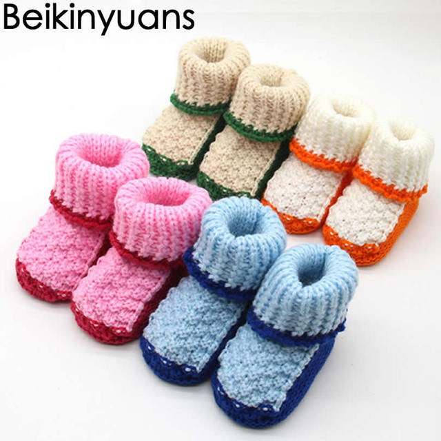 Hand Woven Shoes Newborn Baby Shoes Security Warm Prewalker Boots