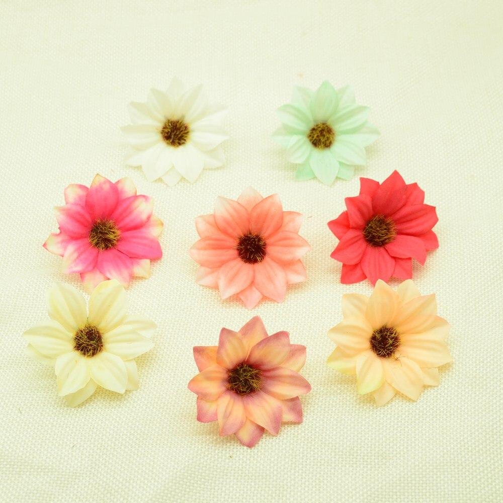 5,5 см искусственные цветы дешевые рождественские украшения для дома Свадебные аксессуары кашпо diy подарки коробка шелк Гербера