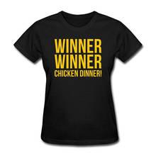 Print T Shirt Summer Style Crew Neck Women Winner Chicken Dinner  Broadcloth Short T Shirt цена 2017