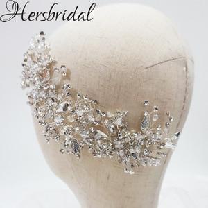 Image 5 - High Quality Crystal Bridal Hair Comb Handmade Rhinestone Wedding Headpiece Hair Jewelry Brides 2019