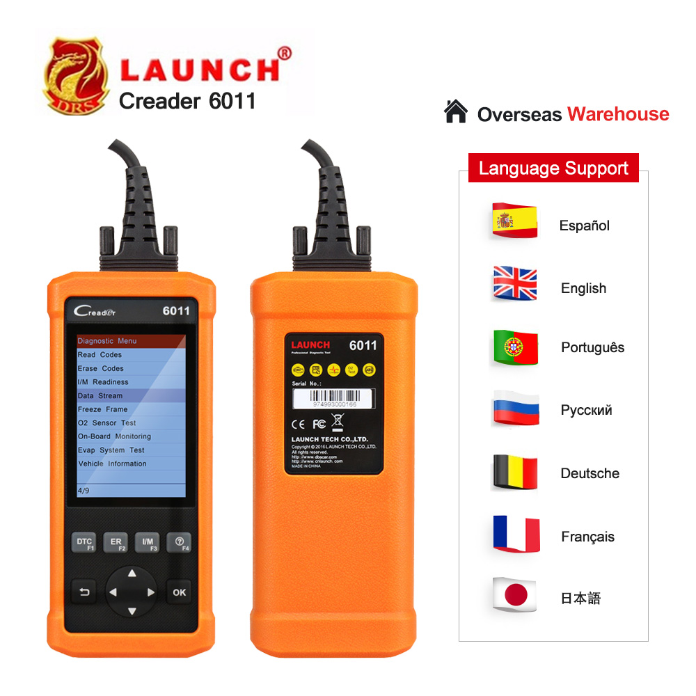 Launch CReader 6011 CR6011 OBD2 Auto Code Reader Car Diagnostic Tool Launch Scanner ABS SRS System Full OBDII Functions Scanner