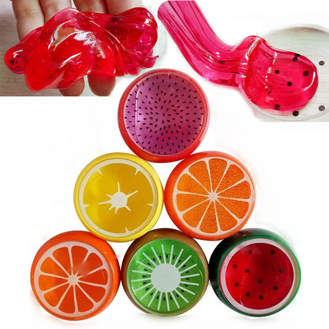 6 Pcs/set DIY Colorful Fruit Slime Toy For Kids Magnetic Polymer Clay Crystal Slime Intelligent Hand Plasticine Mud Playdough