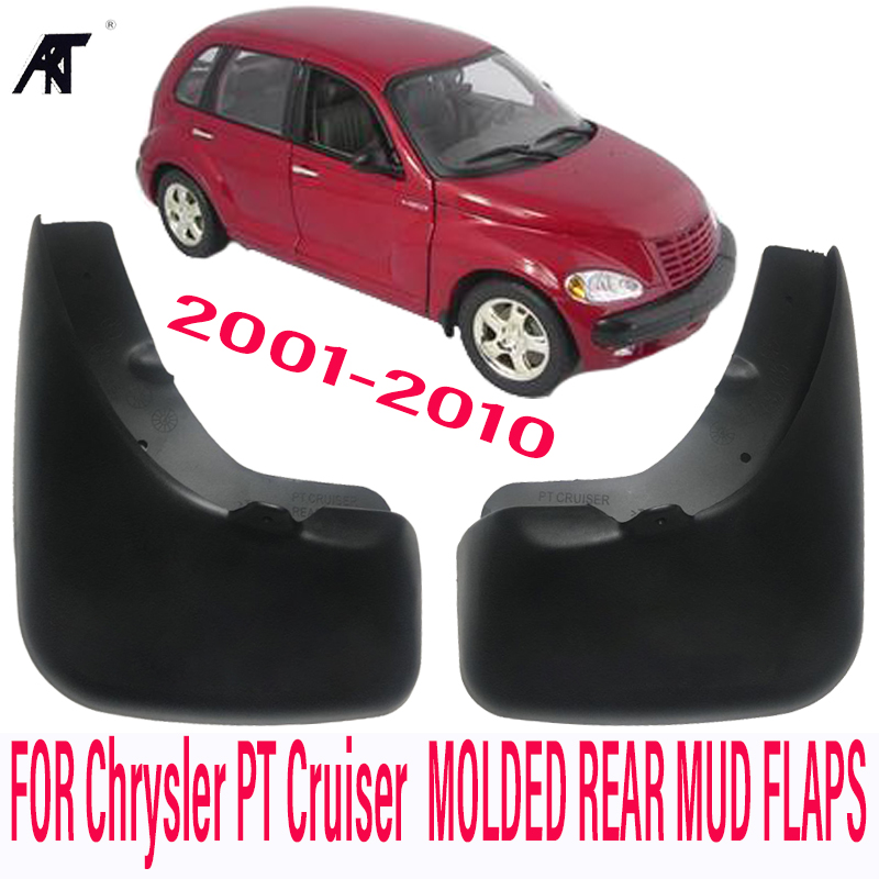 MUDGUARDS FIT FOR Chrysler PT Cruiser 2001-2010 MOLDED REAR MUDFLAPS MUD FLAP SPLASH GUARD FENDER ACCESSORIES цена