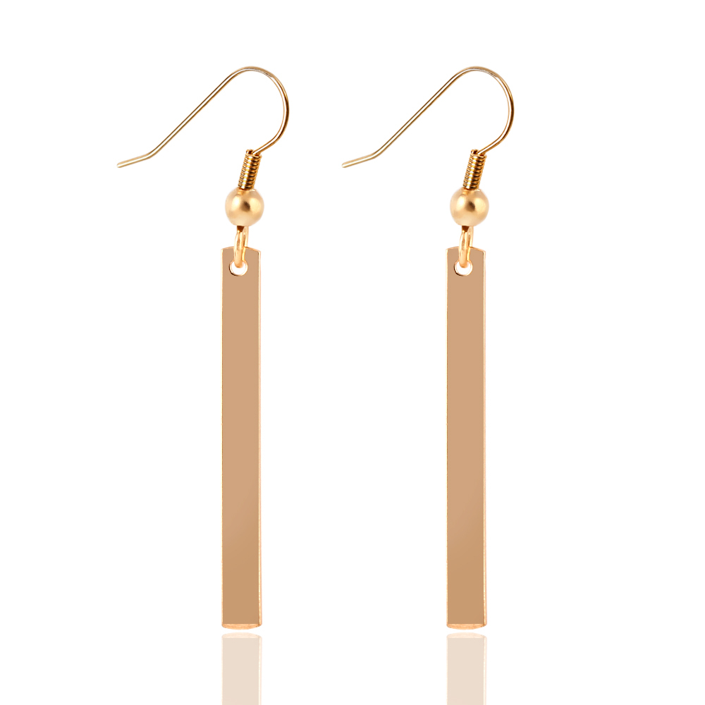 Hot Selling Simple Design Fashion Long Drop Earring Gold Color ...