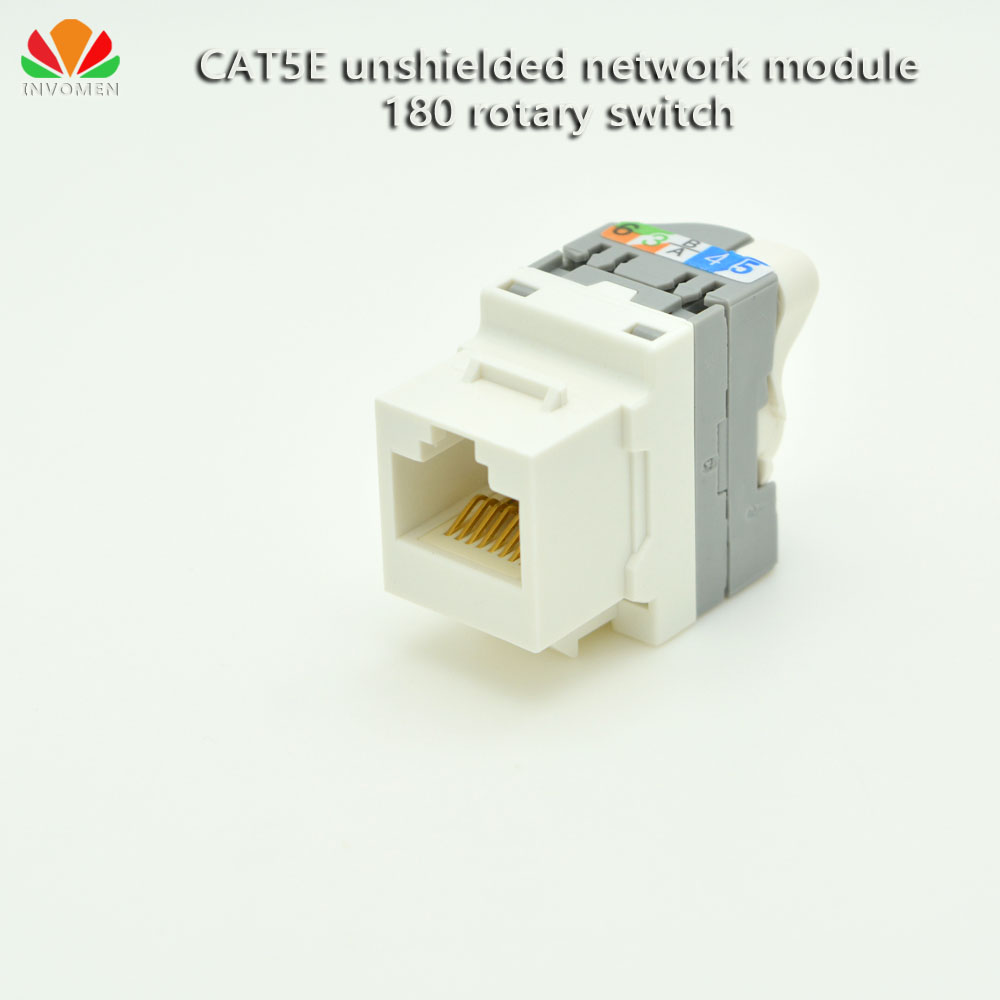 CAT5E unshielded network module 180 rotary switch Twist-turn wire Gold plated RJ45 connector wire-free Information module AMP