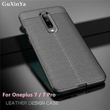GuXinYa Oneplus 7 Pro Phone Case Oneplus 7 Luxury Leather ShockProof TPU Protective Case For Oneplus 7 / 7Pro Funda