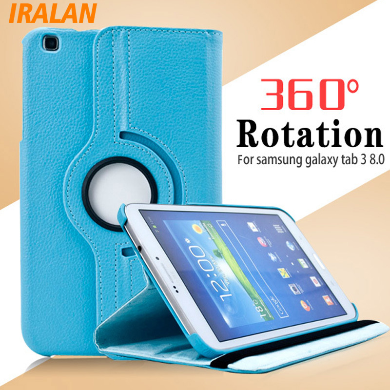 Case For Samsung Galaxy Tab 3 8.0 T311,T310,T315 Smart Stand Tablet PU Leather Case Cover 360 Rotating Screen Protector Stylus