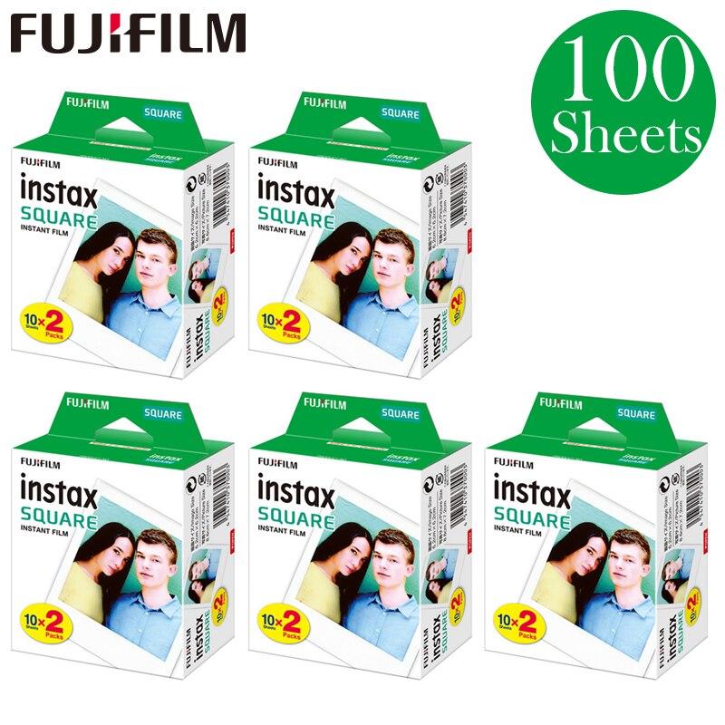 100 feuilles Fujifilm 2018 Nouveau Fujifilm Instax Carré Instant 5 packs 20 Film pour Fuji SQ10 Photo Caméra SP3