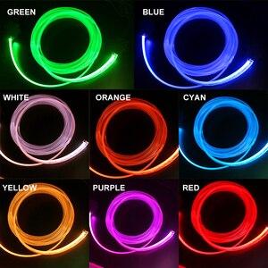 Image 5 - RGB LED רצועות אור הסביבה APP Bluetooth בקרת לרכב פנים אווירת אור מנורת 8 צבעים DIY מוסיקה 4 M סיבים אופטי להקה