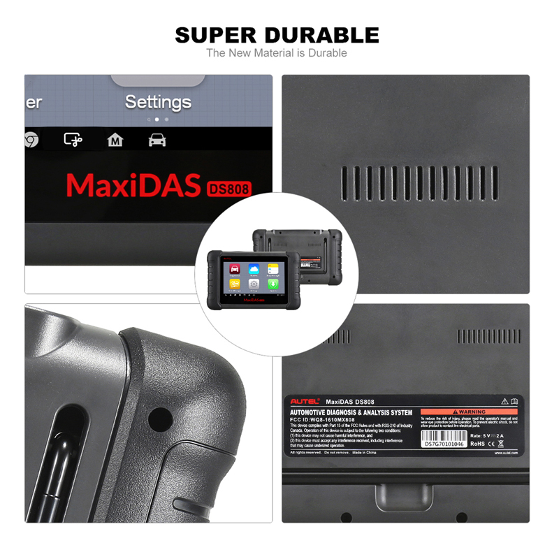 Image 5 - Autel MaxiDAS DS808 Diagnostic Tool DS708 DS808 Full System Car Diagnostic and ECU coding Tool with full OBD OBD2 adapters-in Engine Analyzer from Automobiles & Motorcycles
